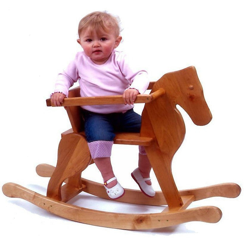 Junior Wooden Rocking Horse - Hibba Toys of Leeds