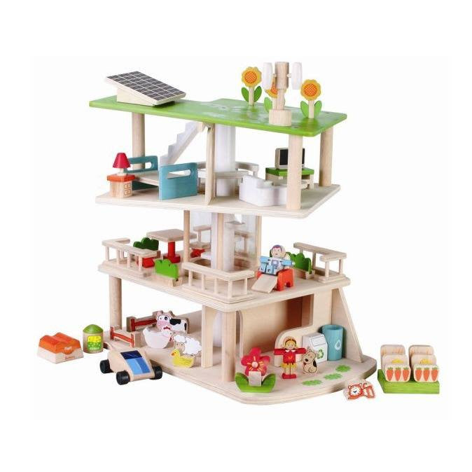 Eco Dolls House With Furniture - Hibba Toys of Leeds