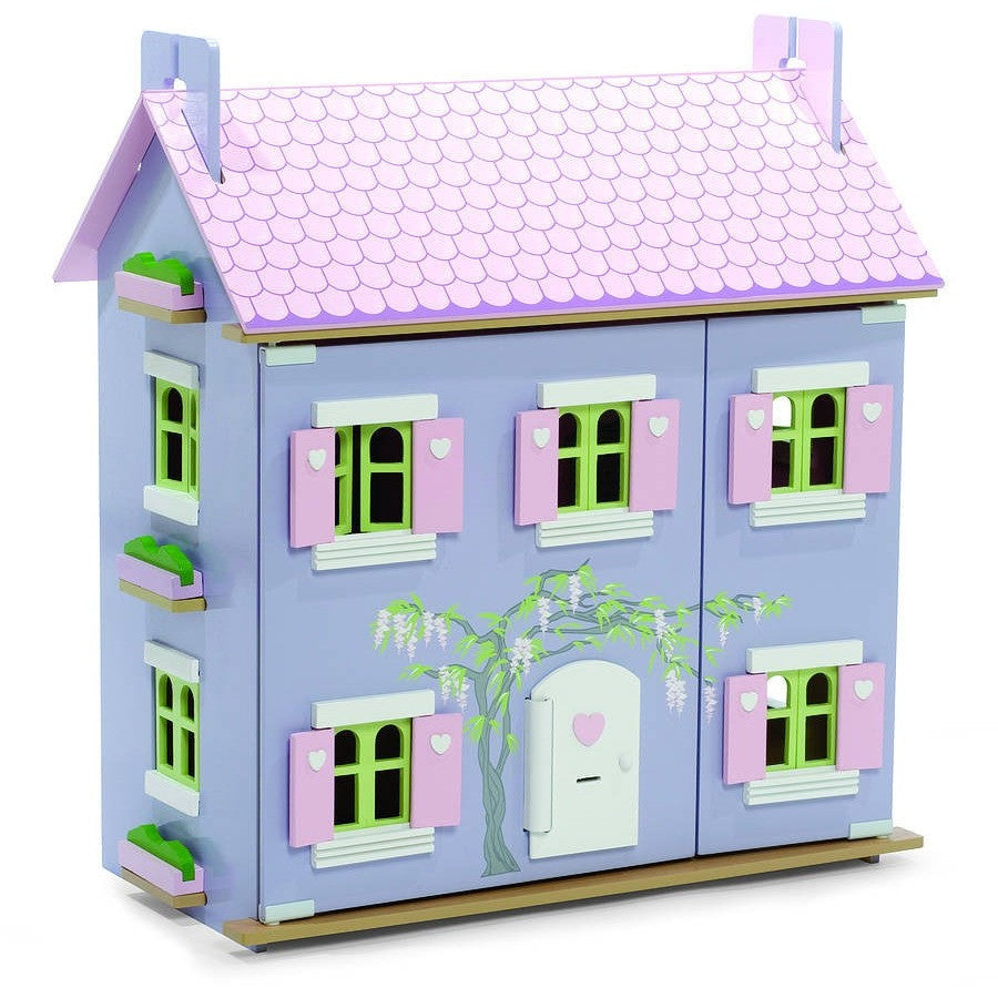 Lavender Dolls House With Furniture - Hibba Toys of Leeds