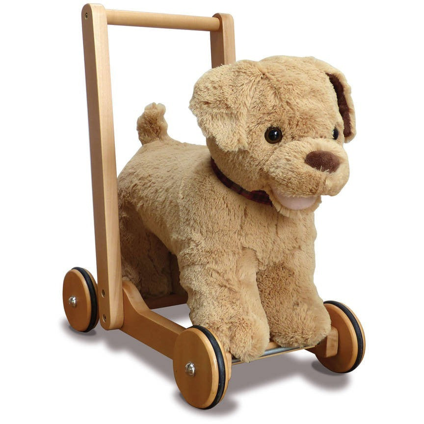 Labrador Ride On And Push Along Baby Walker - Hibba Toys of Leeds
