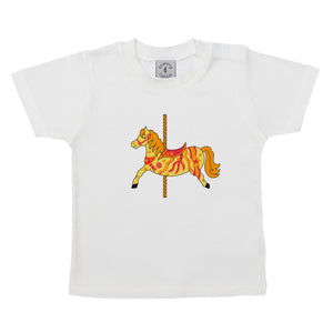 Carousel Horse Babies Short Sleeve T Shirt - Tommy & Lottie