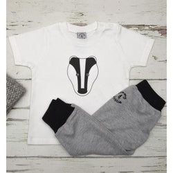 Badger T Shirt & Harem Baby Leggings Set - Tommy & Lottie