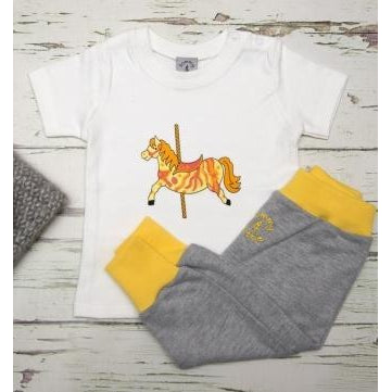 Carousel Horse T Shirt and Harem Baby Leggings Set - Tommy & Lottie