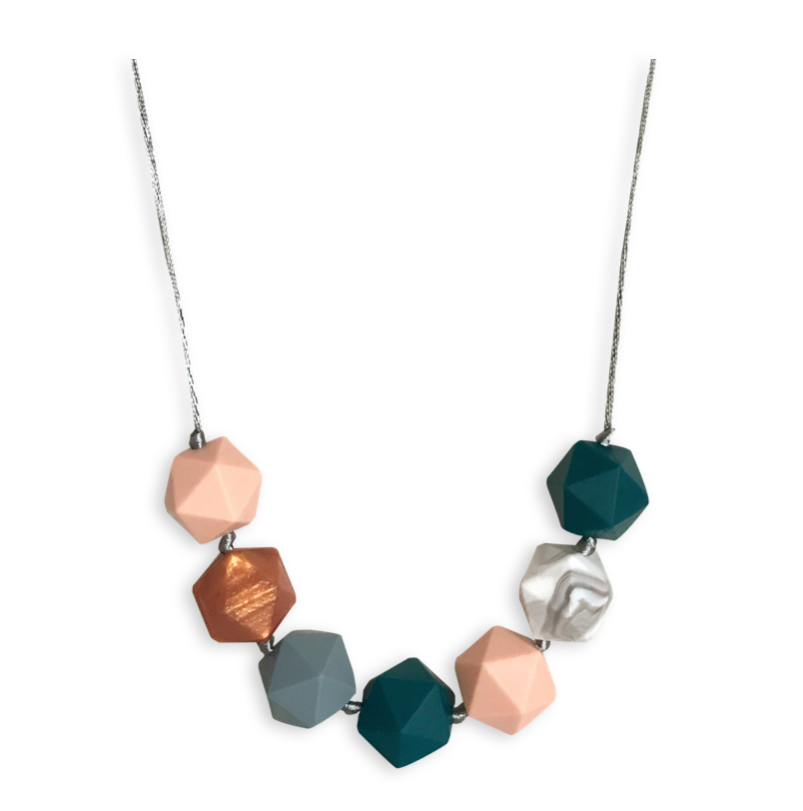 Ava teething necklace - Maple/Copper Spruce - Mama + Belle
