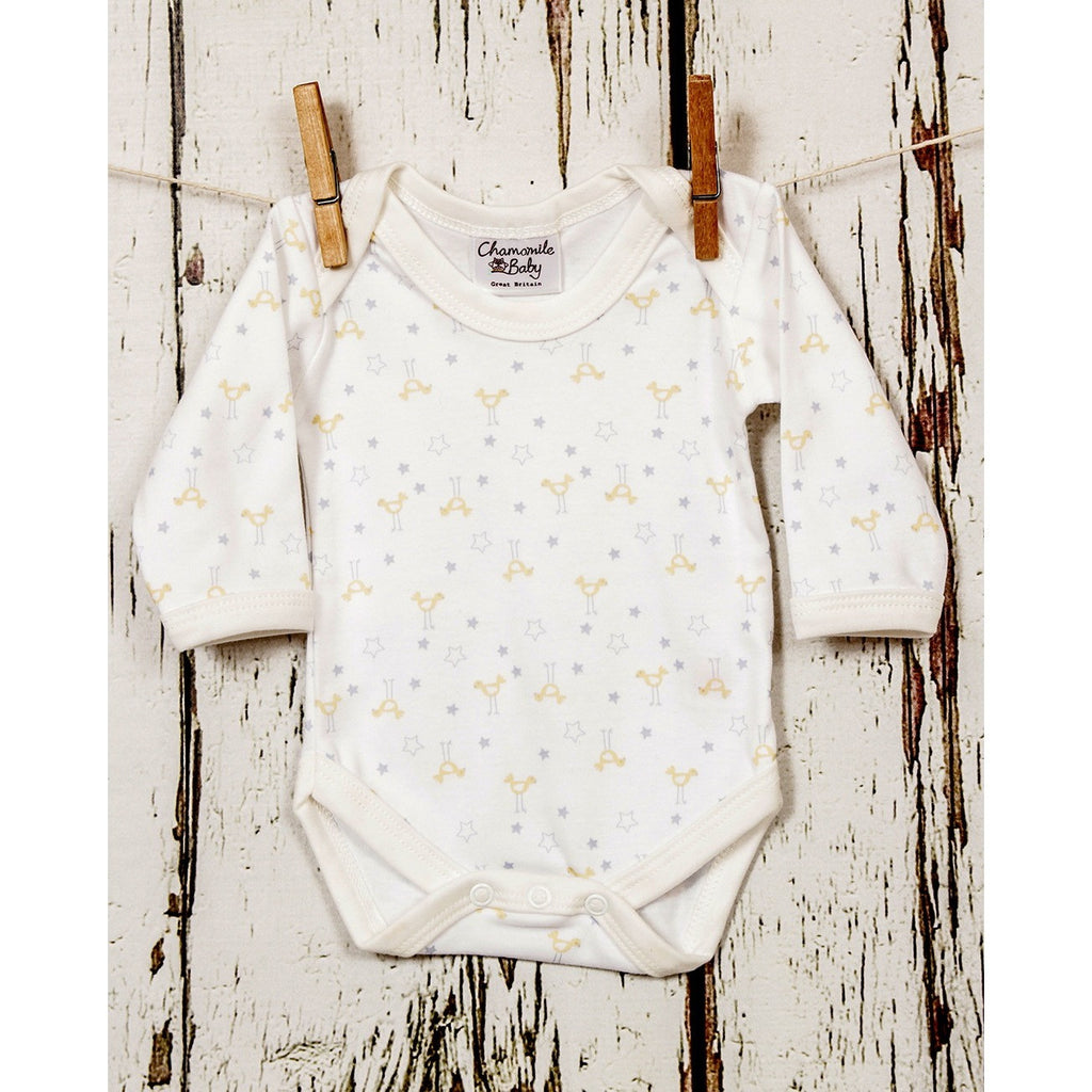 Chick & Star Bodysuit - Chamomile Baby