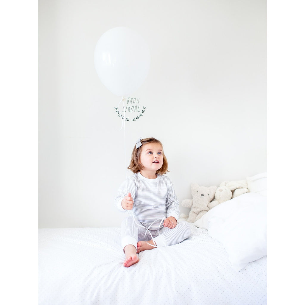 Cloud Stripe Organic Cotton Pyjamas - Molly & Moo
