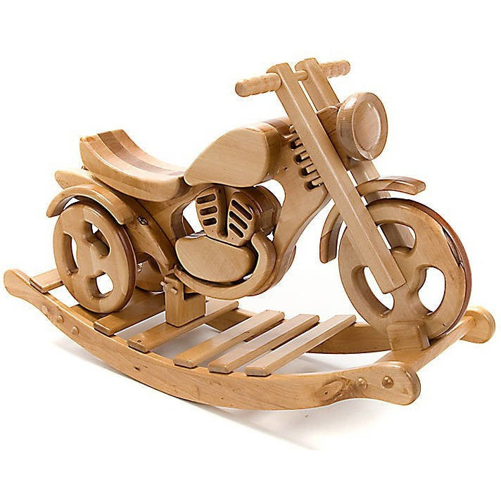 All Terrain Wooden Rocking And Ride On Bike - Hibba Toys of Leeds