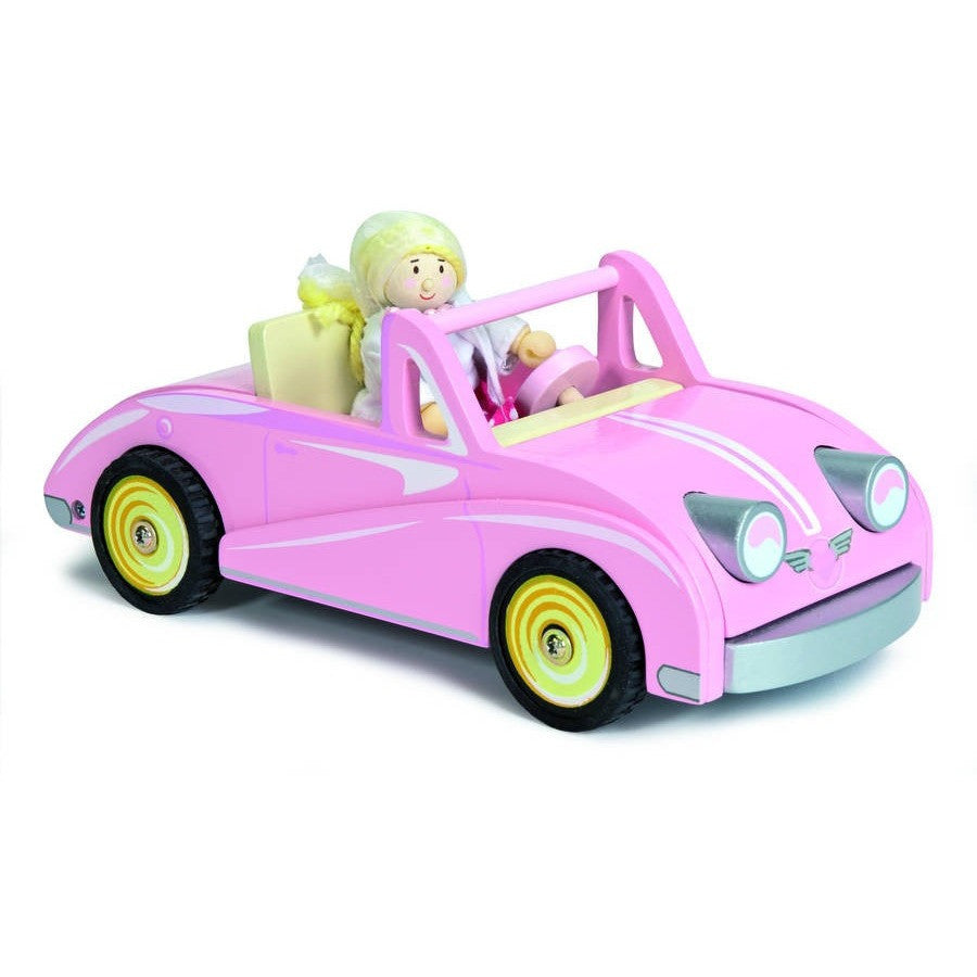 Chloe's Pink Wooden Coupe - Hibba Toys of Leeds