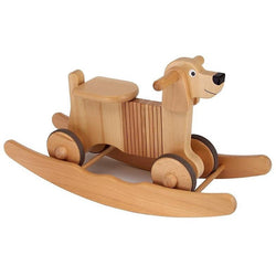 Wooden Rocking And Ride On Dog Toy - Hibba Toys of Leeds
