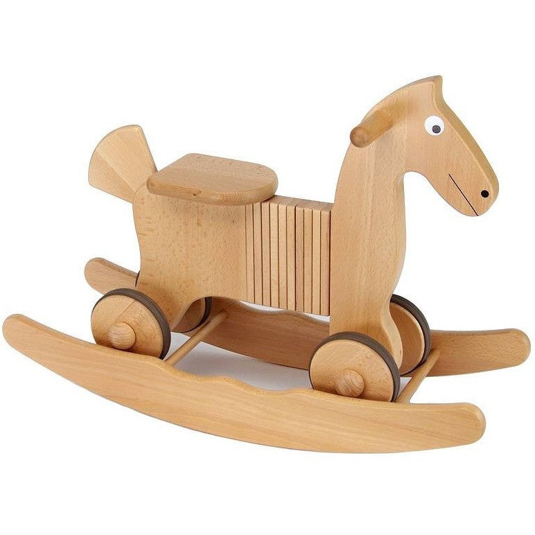 Wooden Rocking And Ride On Horse Toy - Hibba Toys of Leeds