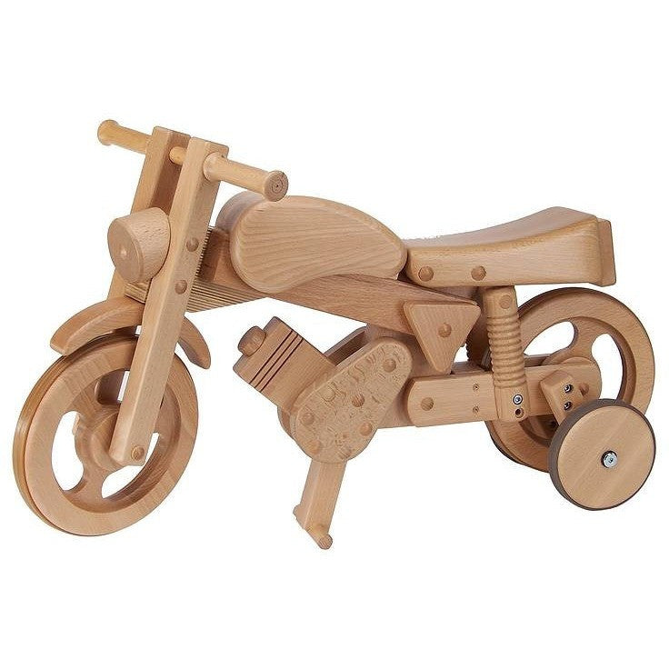 Wooden Rocking And Ride On Trainer Bike - Hibba Toys of Leeds