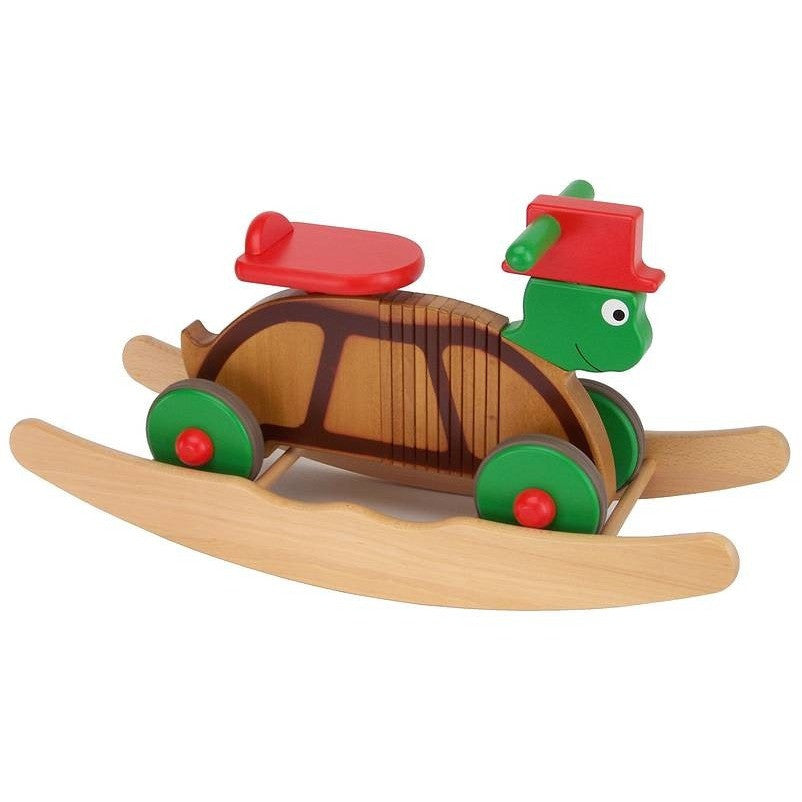 Wooden Rocking And Ride On Turtle Toy - Hibba Toys of Leeds