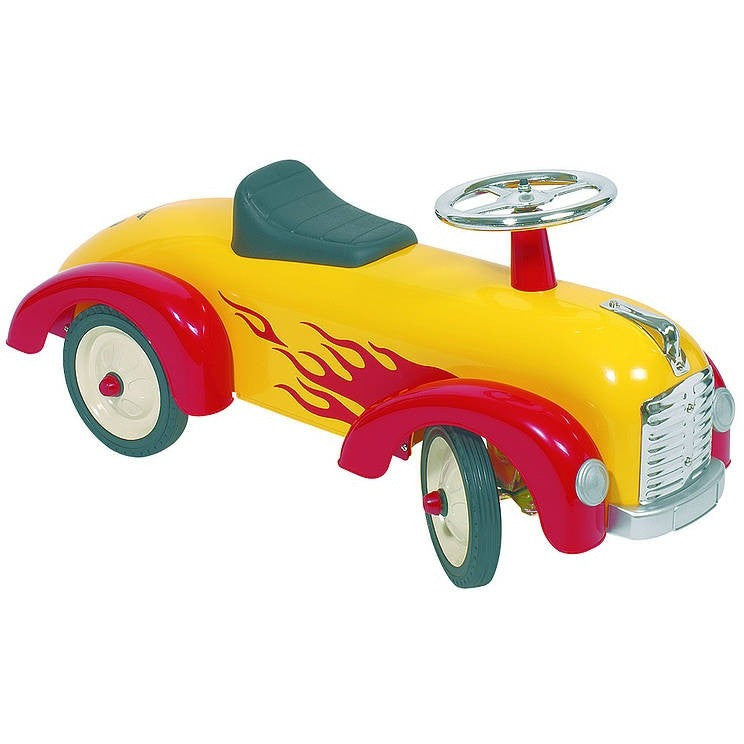 Yellow Hot Rod Speedster Ride On - Hibba Toys of Leeds