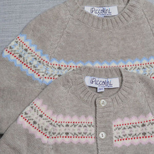 Rose Fairisle Cardigan