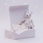A Teddy's Best Friend - Luxury Bamboo Newborn Gift Set - Babygrow, Softtoy - Charlotte Mathieu
