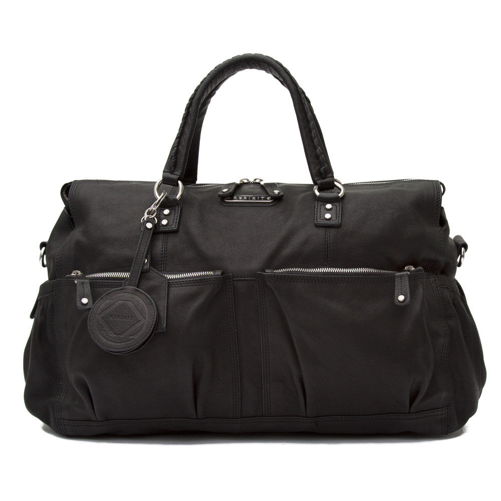Keri Jane Black Leather Multiples Changing Bag - Kerikit