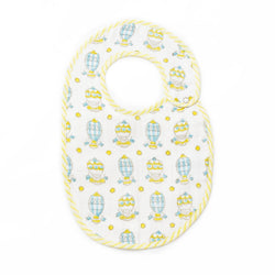 Balloons & Stars bib in blue - Hullabaloo Prints