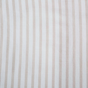 Oatmeal stripe & faded grey print organic cotton baby blanket - Hope & Fortune