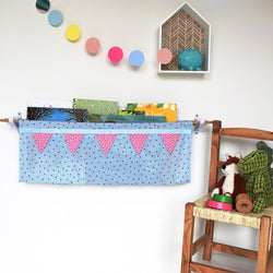 Blue Spotty Book Sling Kit (custom options) - Little Pea Studio