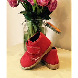 Angelitos Velcro Desert Boots - Red - Willabeans Shoes