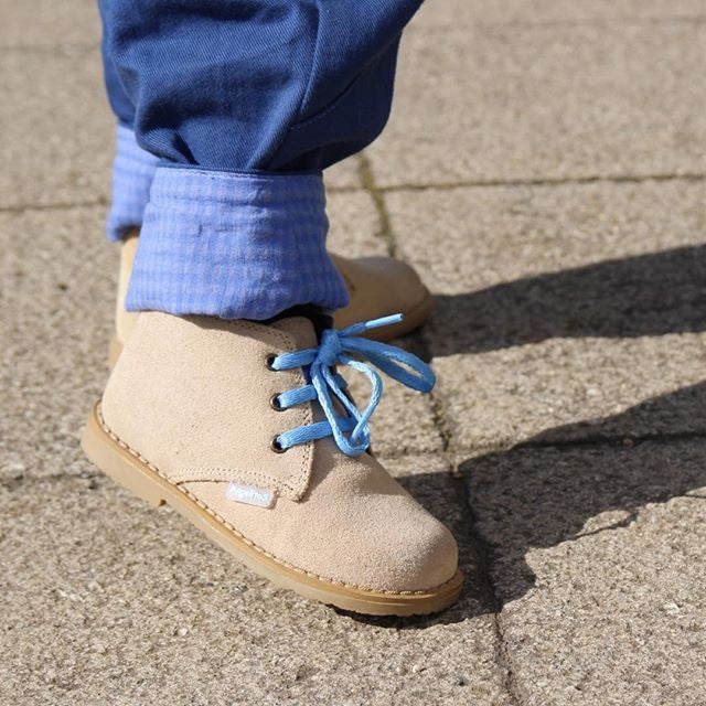 Angelitos lace up desert boots - Camel - Willabeans Shoes