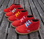 Angelitos Lace up Desert Boots - Red - Willabeans Shoes