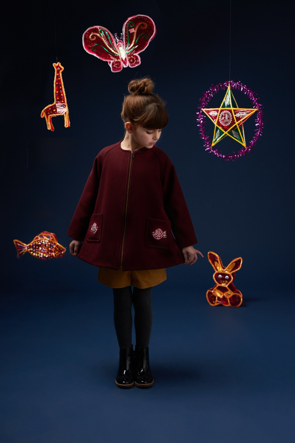 Sophie Wool coat with embroidery - Hannah & Tiff
