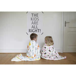 Elephant Large Swaddle Blanket - Panda & Ping