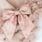 Pink Capel Hair Accessory - Liberty of London Bow - Matilda & Grace