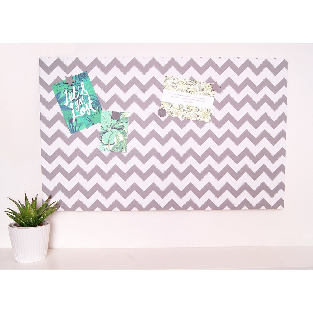 Grey Chevron Magnetic Noticeboard - The Magnetic Noticeboard Company