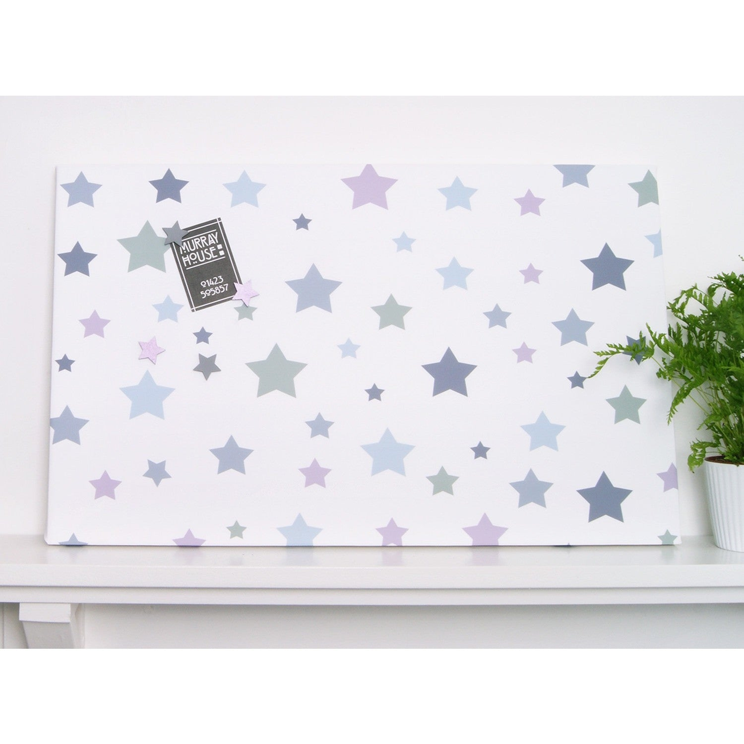 Muted Stars Magnetic Noticeboard - The Magnetic Noticeboard Company