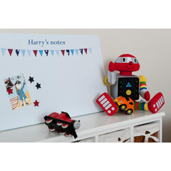Blue Bunting Magnetic Noticeboard - The Magnetic Noticeboard Company