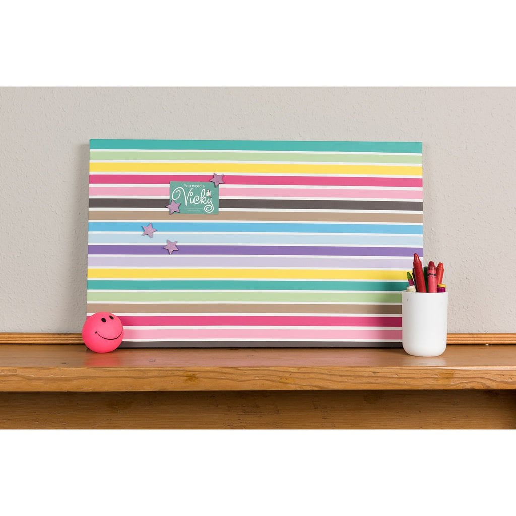 Multi Stripes Magnetic Noticeboard - The Magnetic Noticeboard Company