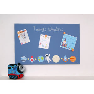 Personalised Space Magnetic Noticeboard - The Magnetic Noticeboard Company