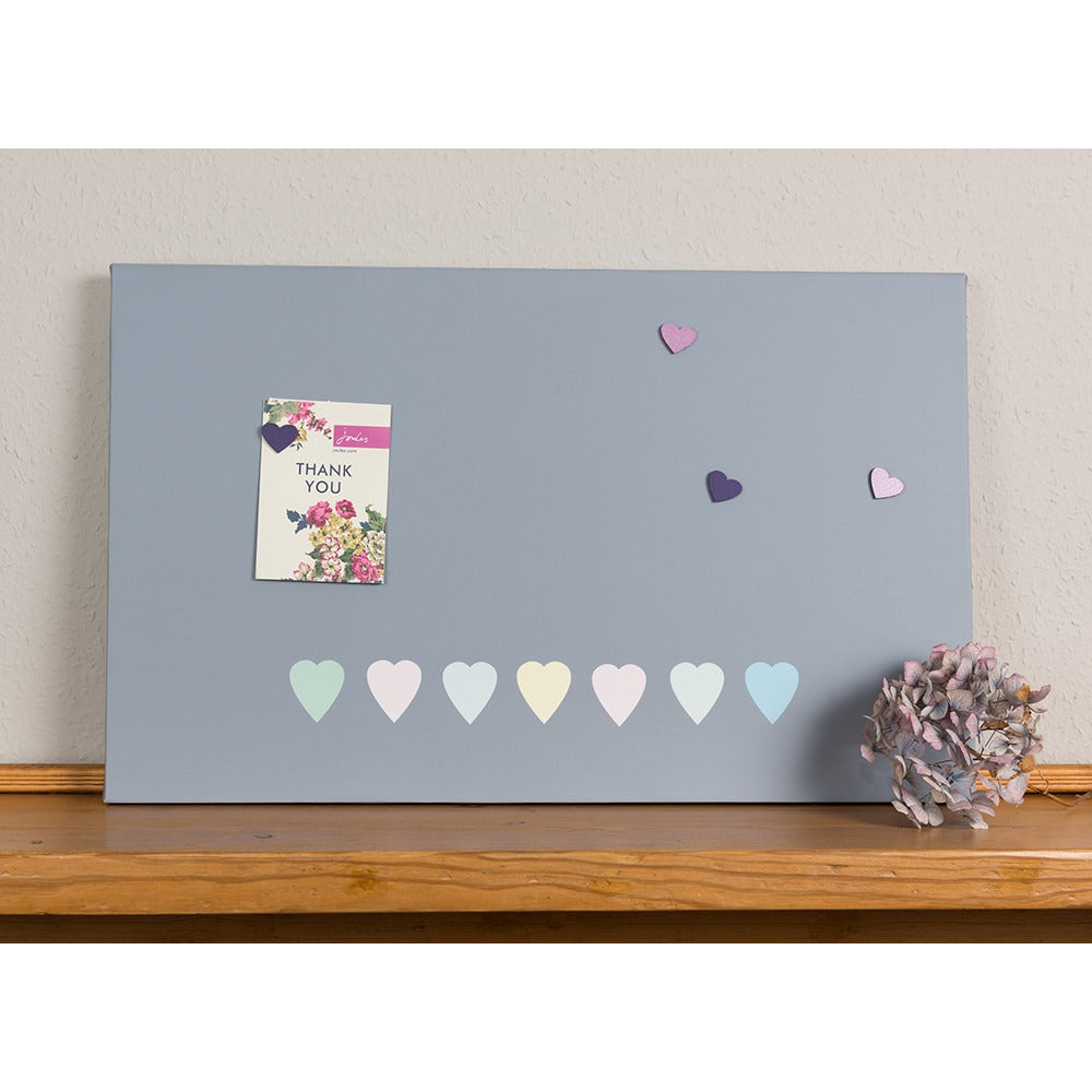 Pastel Hearts Magnetic Noticeboard - The Magnetic Noticeboard Company