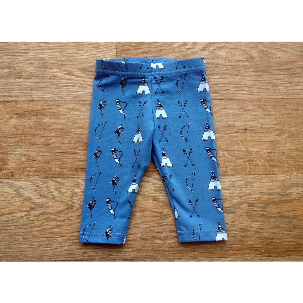 Bow & Arrow Print Organic Cotton Baby Leggings - Bumbaloo Leggings