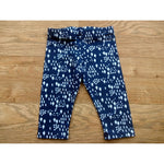 Dark Blue Diamond Print Organic Cotton Baby Leggings - Bumbaloo Leggings