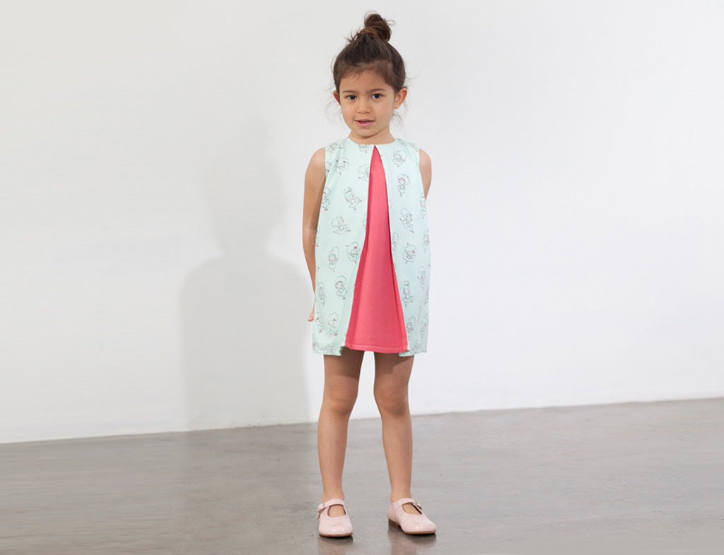 Little ballerina dress - printed - Little Kokoro