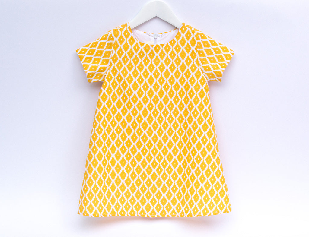 Girls diamond shift dress - Little Kokoro