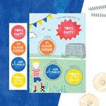 Personalised Football Invitations With Sticker Activity - Cotton Twist