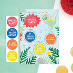 Personalised Dinosaur Invitations With Sticker Activity - Cotton Twist