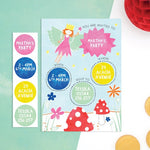 Personalised Fairy Invitations With Sticker Activity - Cotton Twist