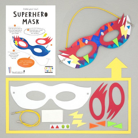 Make Your Own Superhero Mask Kit - Cotton Twist