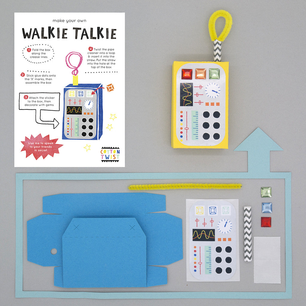 Make Your Own Walkie Talkie Kit - Cotton Twist