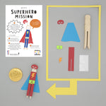 Make Your Own Superhero Peg Doll Kit - Cotton Twist