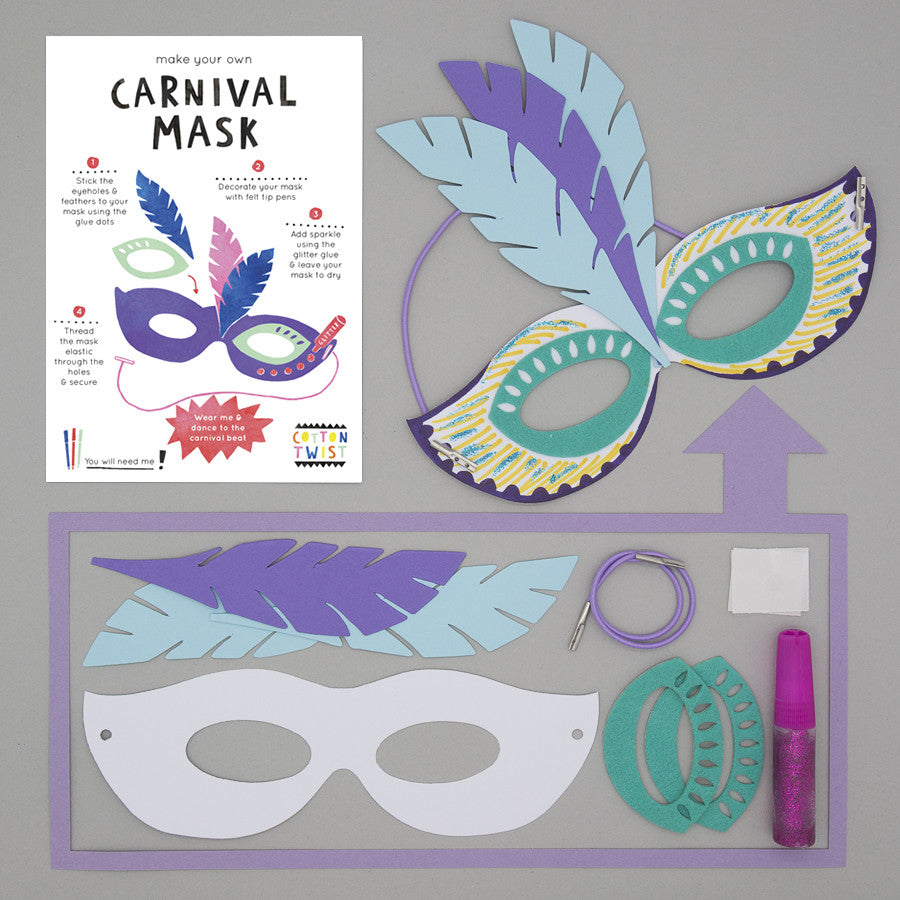 Make Your Own Carnival Mask Kit - Cotton Twist