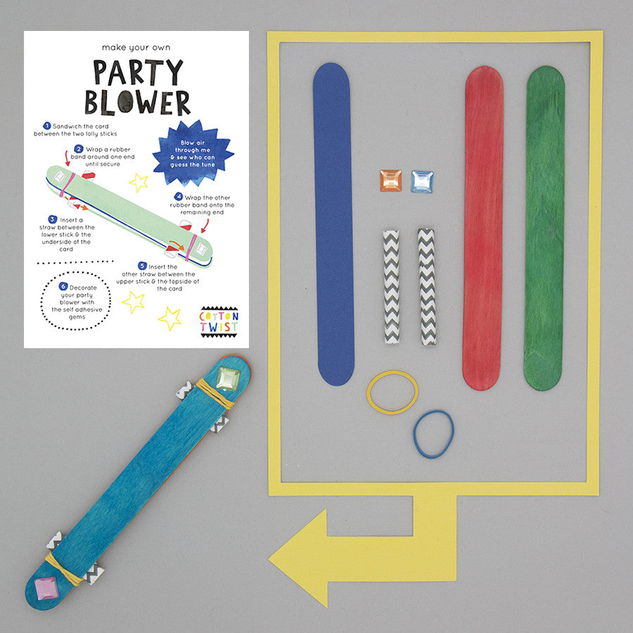 Make Your Own Party Blower Kit - Cotton Twist