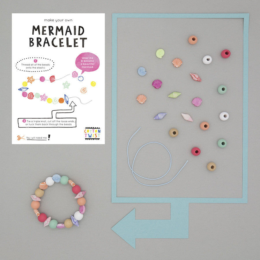 Make Your Own Mermaid Bracelet Kit - Cotton Twist