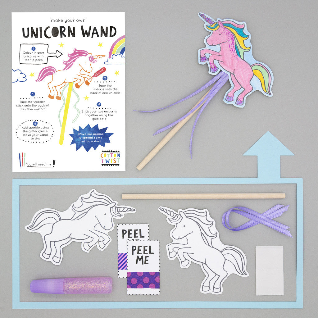 Make Your Own Unicorn Wand Kit - Cotton Twist