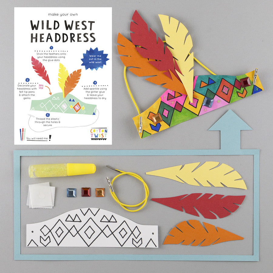 Make Your Own Wild West Headdress Kit - Cotton Twist